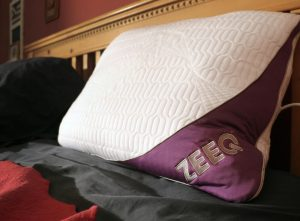 zeeq pillow on bed