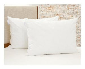 eight pillow brand on a bed