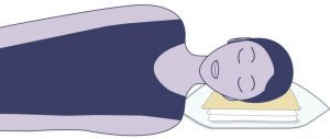 illustration of a lady laying on an eight pillow