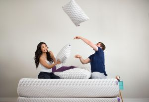 pillow fight with Layla pillows