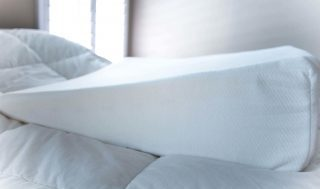 intevision pillow on bed